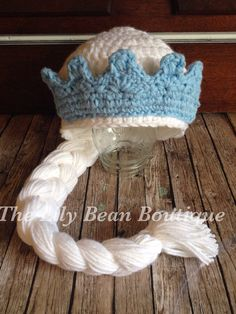 Elsa inspired braid hat frozen hat wig hat от TheLilyBeanBoutique, $20.00