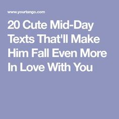 Texting is the best way to keep in touch with your man throughout the day. Want to make him feel good? Here are 20 cute texts for him that'll make him smile. Romantic Texts For Him, Love Texts For Him, Sweet Texts For Him, Flirty Texts For Him, Romantic Love Messages, Text For Him, Romantic Couples, Cute Messages For Him, Cute Messages For Boyfriend