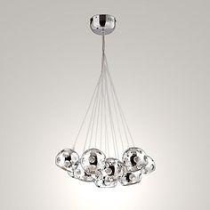 umei+™+10+watt+modern+/+kortárs+/+gömb+izzó+mellékelve+krómozott+fém+medál+fények+–+USD+$+106.39