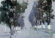 赵志强 / Zhao Zhiqiang (b. 1959, China) watercolor.