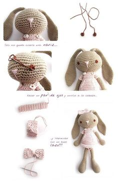 A beautiful bunny, crochet, for Easter + tutorial
