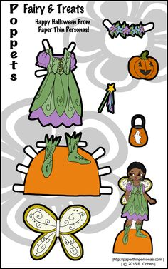 Fair paper doll clothes for the Poppet paper dolls coloring pages. Free to print…