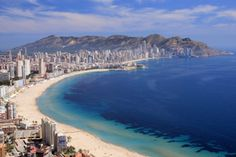 Benidorm view sandy bay