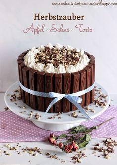 Der Herbst ist gekommen mit einer Apfel-Sahne-Torte von Sandras Tortenträumereien