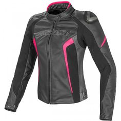 Purchase your Dainese Women's Racing D1 Perforated Leather Jacket and get Free Shipping from Motochanic, home of Dainese.