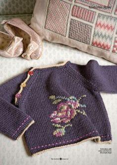 Ravelry: Kimono Rose sweater pattern by Erika Knight Knitting For Kids, Baby Knitting Patterns, Knitting Designs, Baby Patterns, Free Knitting, Knitting Projects, Vintage Knitting, Knitting Ideas, Cardigan Bebe