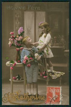 Edwardian Children 1910s Photo Postcard