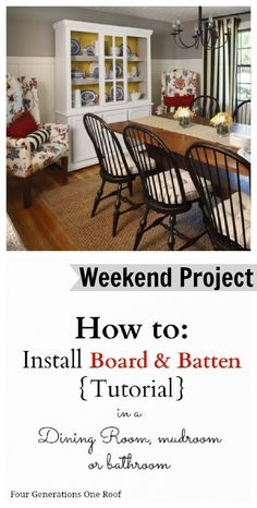 DIY board and batten tutorial by Jessica Bruno @ www.fourgenerationsoneroof.com @4gens1roof