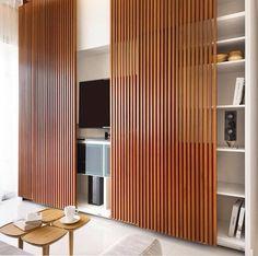 Painel ripa de madeira sala