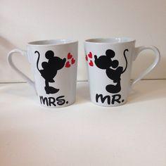 Personalized disney coffee mugs disney wedding by FromAtoZbyTami