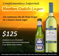 24 x IMPORTED HOOTEN DUTCH LAGER 330ML  Hooten Premium Dutch Lager has been brewed in Holland using the traditional brewing technique. Brewed using the finest ingredients and crystal clear water to ensure this beer is of the highest quality.