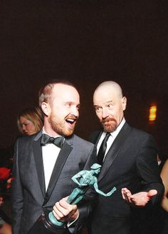 Aaron Paul and Bryan Cranston of Breaking Bad Breaking Bad Funny, Breaking Bad Cast, Breaking Bad Jesse, Bryan Cranston, Walter White, Crystal Meth, Better Call Saul, Braking Bad, Aaron Paul