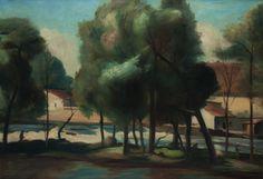 Vincenc Benes - Otava na Pisku, oil on canvas, 74 x 100 cm