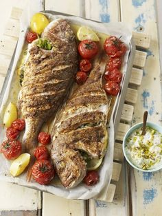 Roasted Whole Snapper with Egyptian Spices | dish