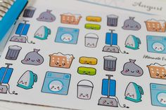 NEW Kawaii Cleaning Planner Sticker Sets by AlternateForces