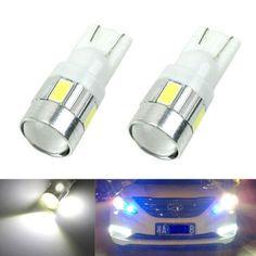 Nuovo aggiornamento 4 colori T10 LED 1 PZ Lampadina Auto 5730 SMD 6 LED W5W 12 V Parcheggio Interno Lente Del Proiettore di Trasporto libero