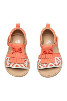 Appliquéd sandals - Coral - Kids | H&M CA 1