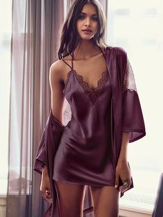 Chantilly Lace & Satin Kimono - Very Sexy - Victoria's Secret