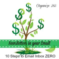 Professional Organizer, Lisa Woodruff, shares 10 steps to getting your email inbox under control in her series 10 Steps to Email Inbox ZERO.
