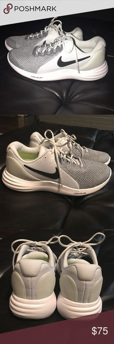 Shop Kids' Nike Gray White size Sneakers at a discounted price at Poshmark.  Description: BRAND NEW Boys Nike Shoes! BOYS SIZE Grey, black and white.