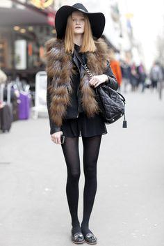 #Paris  street fashion #2dayslook #new stylewww.2dayslook.com