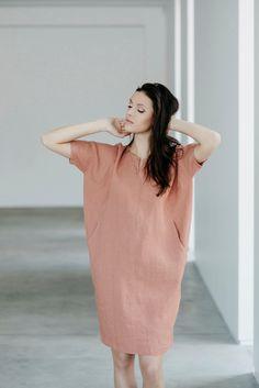 Linen dress Motumo 15S1 by MotumoLinen on Etsy https://www.etsy.com/listing/237968720/linen-dress-motumo-15s1