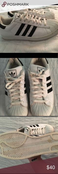 Men's Adidas Superstar Shoes Men's adidas superstar shoes. A little worn adidas Shoes Sneakers