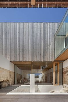 Bosc d'en Pep Ferrer - Marià Castelló · Architecture Modern Architecture Design, Minimalist Architecture, Modern House Design, Interior Architecture, Modern Buildings, Wood Facade, Island Design, Built Environment, Formentera Spain