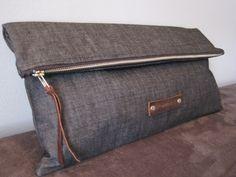 Handbag Accessories, Fashion Accessories, Diy Pochette, Clutch Bag, Tote Bag, Diy Accessoires, Sewing Leather, Denim Bag, Purses And Handbags