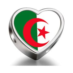 Bracelet Charm Bead Algeria flag Heart Sterling Silver Charm Beads Biagi beads European Charms Bracelets *** Learn more by visiting the image link. #Charms