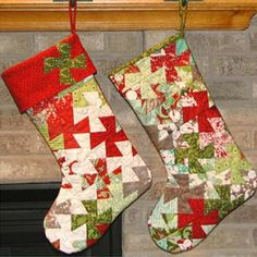 Super cute Christmas Stocking, by Bean Counter Quilts, that uses the Lil' Twister Ruler.    I definitely want to make this for Christmas gifts and for my home.  Do you?    Source:  Cozy Quilt Shop
