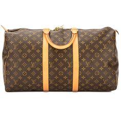 LOUIS VUITTON Monogram Keepall 50 Boston Bag