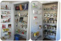 Reorganiza la despensa por tipo de alimento. | 37 Maneras de limpiar profundamente tu cocina
