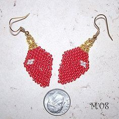Make the holiday season merry and bright with these cute Christmas Light Seed Bead Earrings. This free seed bead pattern is the perfect way to show your Christmas spirit.