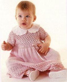 Розовое платье для красавицы | Вязание для девочек | Вязание спицами и крючком. Схемы вязания.