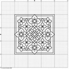 Biscornu Cross Stitch, Blackwork Cross Stitch, Cross Stitch Bookmarks, Cross Stitch Kits, Cross Stitch Designs, Cross Stitching, Cross Stitch Patterns, Motifs Blackwork, Blackwork Embroidery