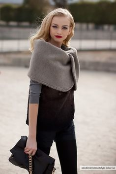 Winter style: scarf