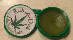 A medicated balm made by Rub-A-Dub used for topical pain relief and inflammation reduction. Available to medical marijuana patients at local...
