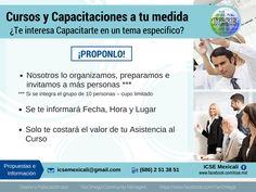 #Cursos y #Capacitaciones a tu Medida Mas Información en: icsemexicali@gmail.com #empleo #fiscal #finanzas #excel