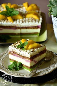 Sernik w herbatnikach- bez pieczenia, sernik na zimno, z galaretką, z owocami, deser, do kawy, 3 urodziny Akademii Kulinarnej Whirlpool