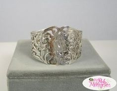 Monogrammed Hand Engraved Sterling Silver Jewelry from Andrea Barnette