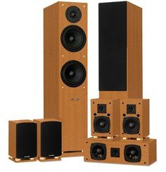 Classic Elite Series High Definition 70 Surround Sound Home Theater Speaker System ** Want additional info? Click on the image.