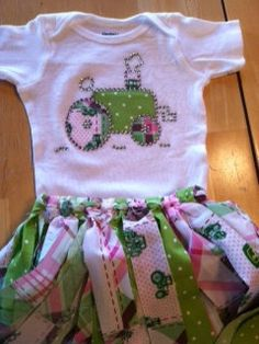 John Deere Girls outfit by ItsBling on Etsy, $34.00