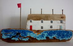 Love these li'l Cornish driftwood pieces by Kirsty Elson Designs