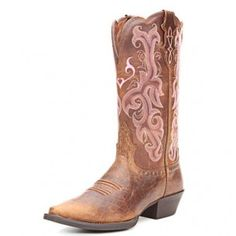 Justin Tan Buffalo Cowgirl Boots