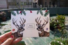 手繪聖誕卡片x麋鹿巡禮篇 - 設計師 冰菓室 - Pinkoi