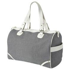Bueno Weekender Bag, gray white stripe at Target