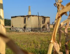The remains of Munster school that was located 30 miles SW of Devils Lake on a railroad site.