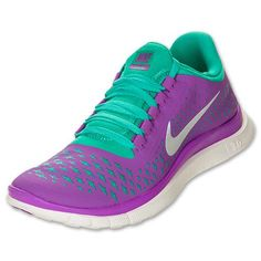 purple and teal nike womens free | Women's Nike Free 3.0 V4 Laser Purple/Reflect Silver/Atomic Teal
