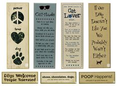decorative+wood+signs+with+sayings+with+clothespins | for dogs or cats with these vintage-style wooden signs with quotes ...
